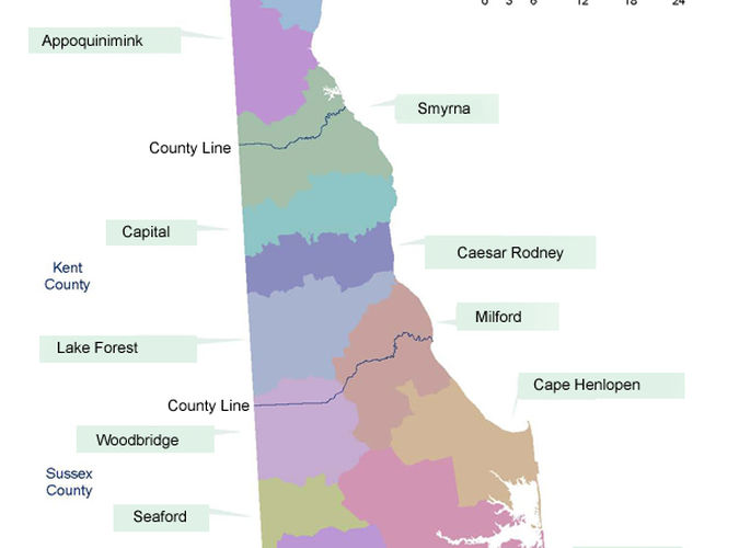 Delaware Statewide Public School State Map, ,