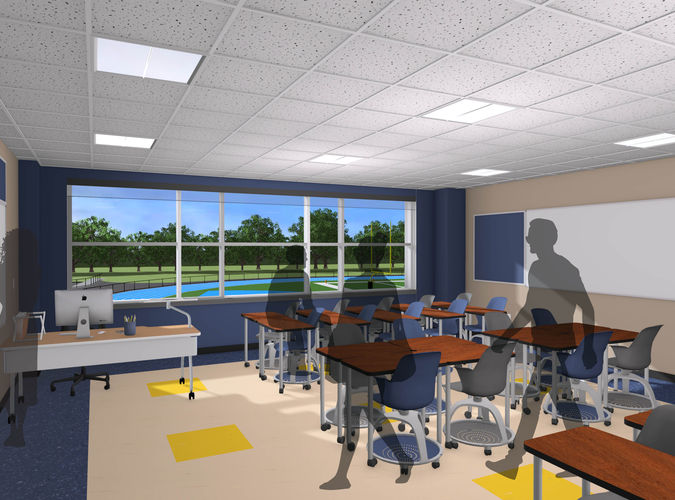 Virtual Reality Example of High School Architecture Project, ,